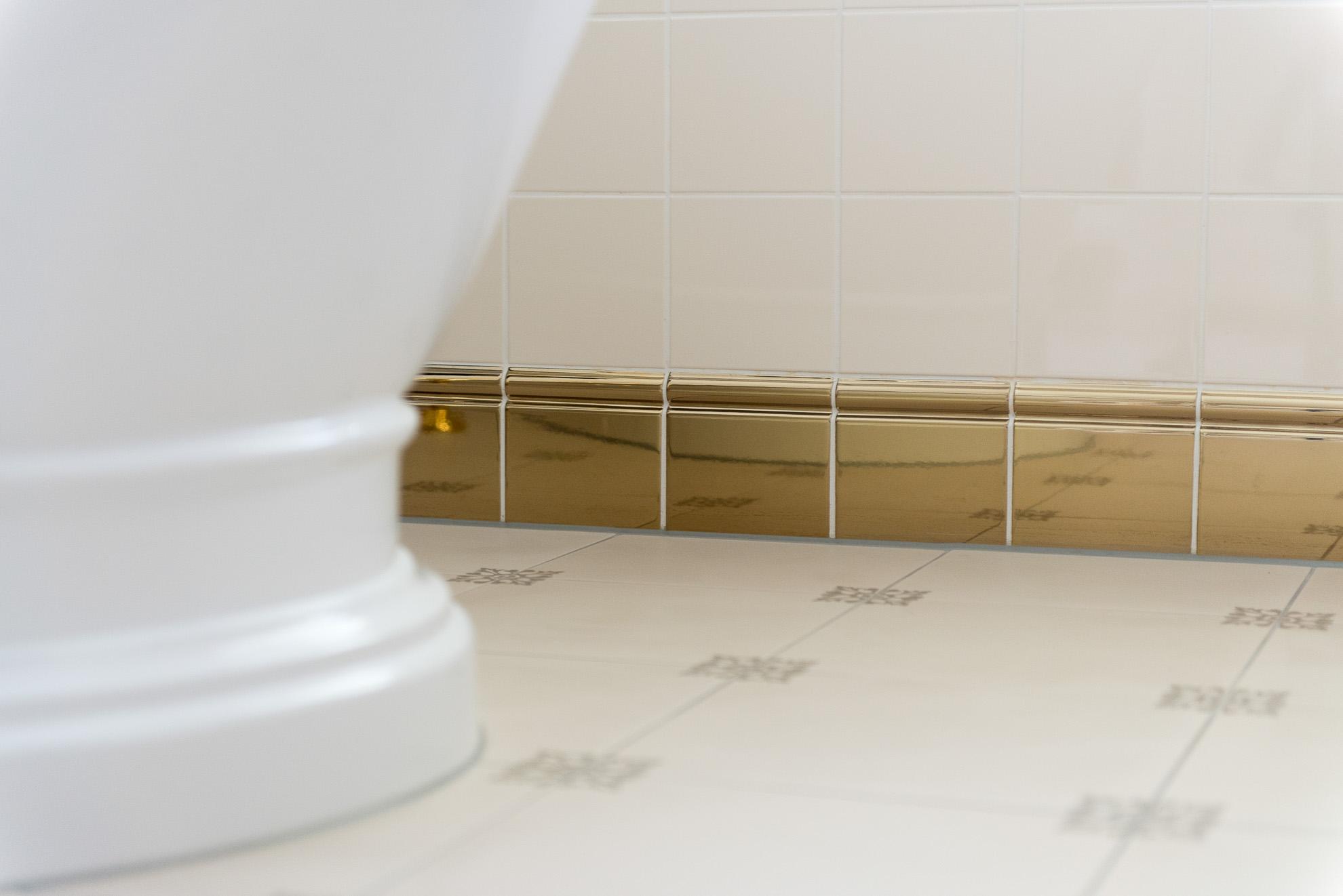 Wandtegels Badkamer Beige : Badkamer met een gouden randje ouwendorp tegels